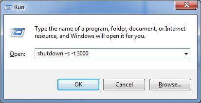 Lệnh hẹn giờ tắt máy tính
